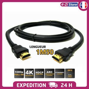 CABLE-HDMI-1-5M-FULL-HD-4K-3D-BLURAY-PS4-XBOX-LCD-PC-ORDINATEUR-1920x1080P-1-5M