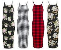 New Womens Ladies Printed Cami Summer Swing Mini Dress Long Top Vest