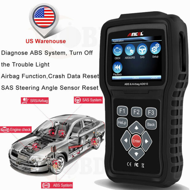 Automotive Scan Tool >> Abs Airbag Srs Sas Car Scanner Diagnostic Tool Obd2 Auto Code Reader Ancel Ad610