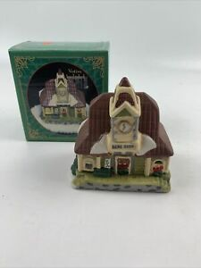 Giftco-Hand-Painted-Train-Station-Ceramic-Votive-Candle-Holder-Christmas-Village