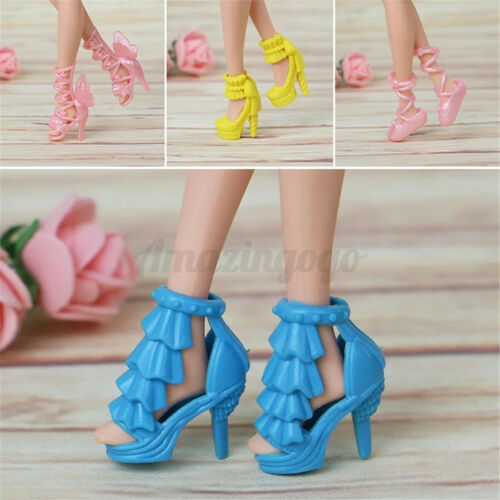 80pcs Doll Shoes High Heels Boots Sandals For Outfit Dress Christmas Gifts