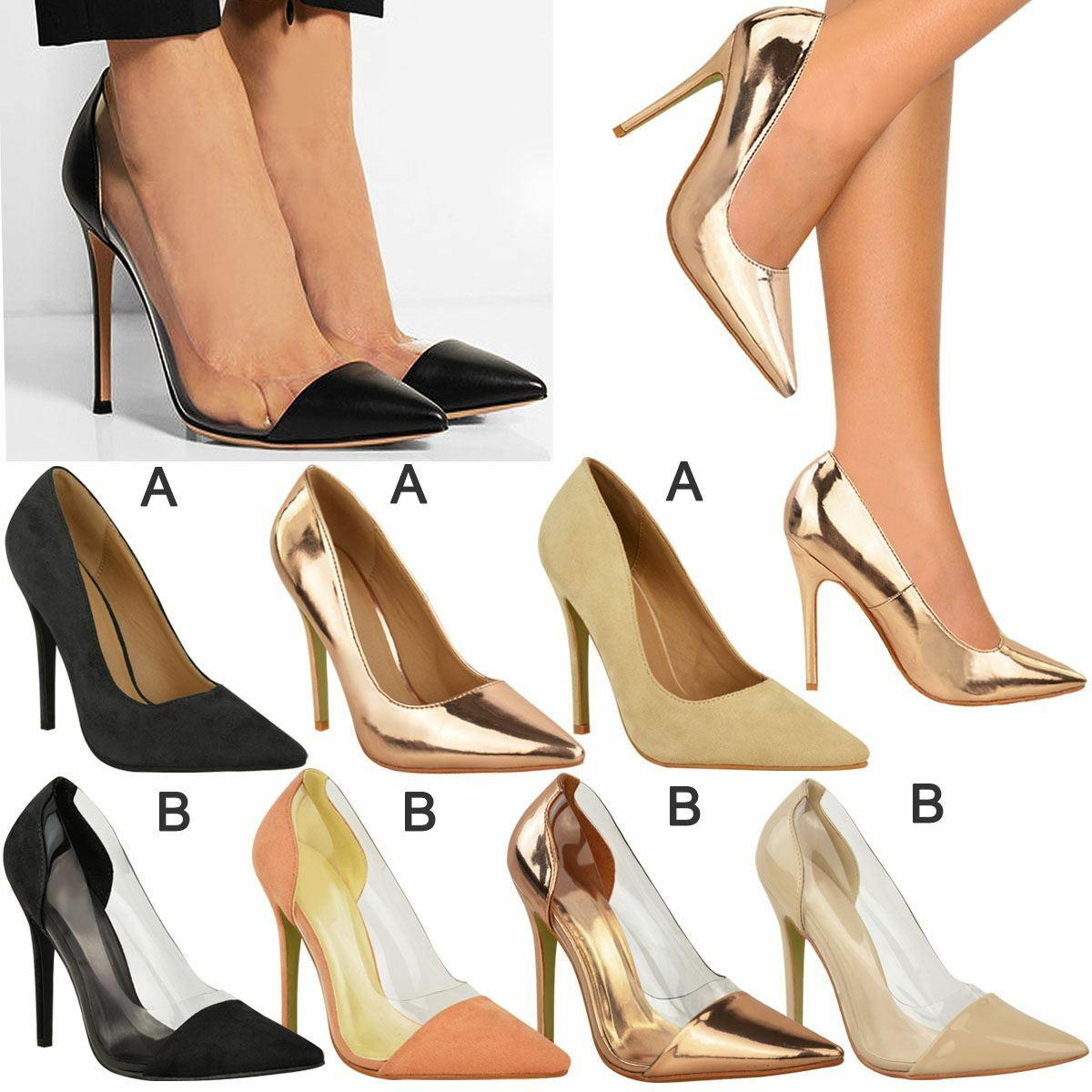 Ladies Sandals Womens Party High Heels Sandals Ladies Stiletto Court Shoes Office Work Sale New ea2cb7