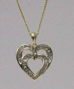 Womens-10k-Yellow-Gold-Diamond-Heart-Pendant