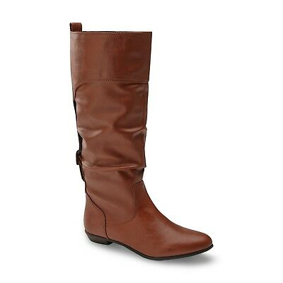 Fashion Slouch Boots Brown* 140T