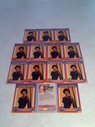 *****Cyd Charisse***** Lot of 14 cards / Hollywood Walk of Fame