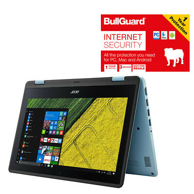 """Acer Spin 1 SP111-31 Convertible Laptop 11.6"""" 4GB 32GB Windows 10 With BullGuard"""