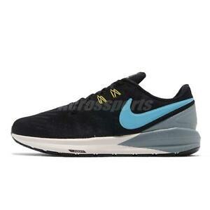 Nike-Air-Zoom-Structure-22-Black-Blue-Grey-Men-Running-Shoes-Sneakers-AA1636-005