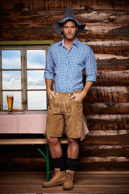 Herren Trachtenhemd Kariert Trachtenknöpfe von James+Nicholson S M L XL 2XL 3XL