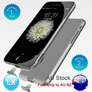 AU-Gray-External-Battery-Backup-Power-Bank-Charger-Case-Cover-For-iPhone-6-6S-7