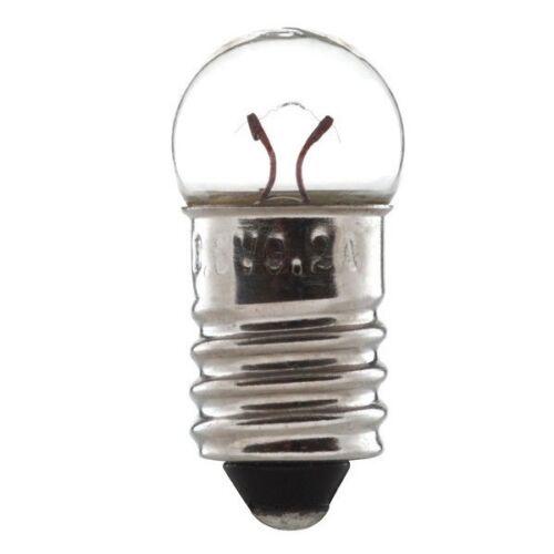 Pack of 5 2.5V 1.25W 500MA E10 Light Bulb 11mm X 24mm