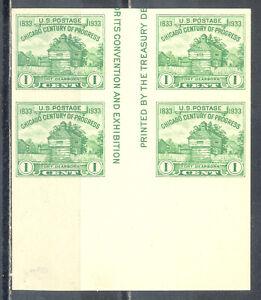 US Stamp (L2432) Scott# 766, Mint NH, Nice Imperf Vertical Gutter Block, Margin