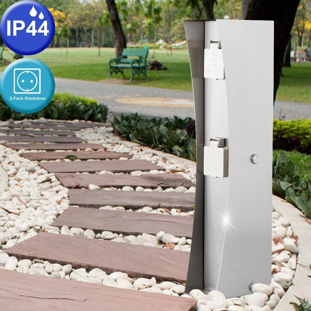 Jardín Al Aire Libre Caja 2 veces distribuidor de electricidad Plata porche energía Pilar