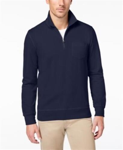 Club Room Quarter Zip Knit Casual Shirt Navy Mens 3XL New