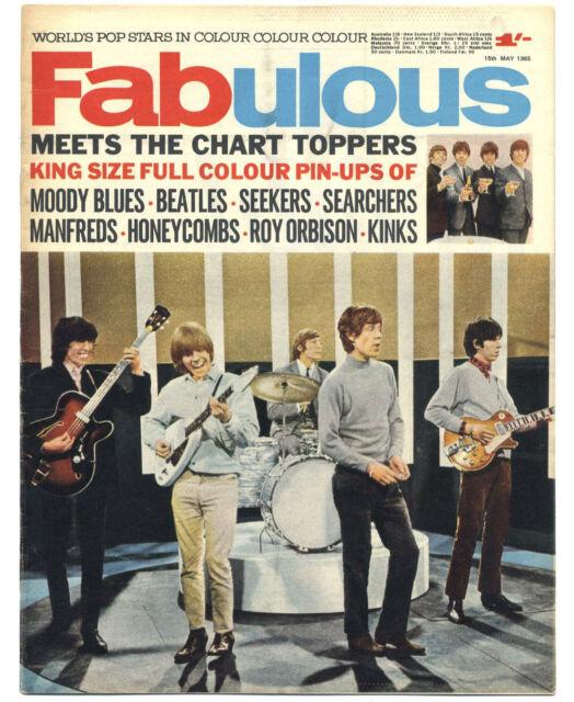 FABULOUS 208 15/5/1965 Rolling Stones Beatles Kinks Manfred Mann Moody Blues
