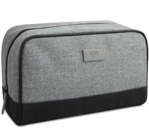 Hugo Boss Original Men's Grey Toiletry Wash Pouch Shaving Bag ✲Free Shipping✲