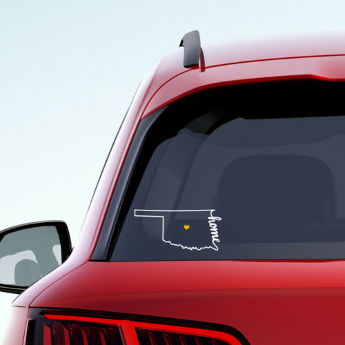 "OK Home Car Vinyl Sticker add heart over any city! Oklahoma State /""Home/"" Decal"