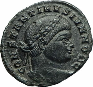 CONSTANTINE-II-Constantine-the-Great-son-323AD-Ancient-Roman-Coin-Wreath-i75847