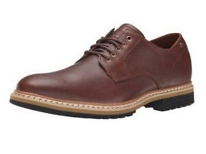 Timberland-West-Haven-Plan-toe-Oxford-Men-039-s-Brown-lace-up-waterproof-shoes-7-UK