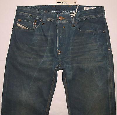 Diesel Men Jeans 38 W x 30 Waykee 808H Reg Straight Distressed Brand New w/ Tags