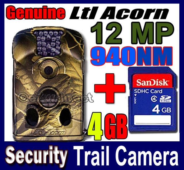 Ltl Acorn 12 MP Trail Camera hunting farm security anti-theft cam IR FREE 4GB SD