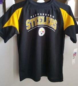 006161799 PITTSBURGH STEELERS NFL TEAM APPAREL KIDS YOUTH L 12/14 SHORT SLEEVE ...