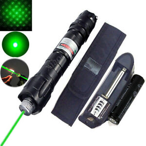 50Miles Professional Green//Red 532NM Laser Pointer Lazer Beam Pen Burn+18650