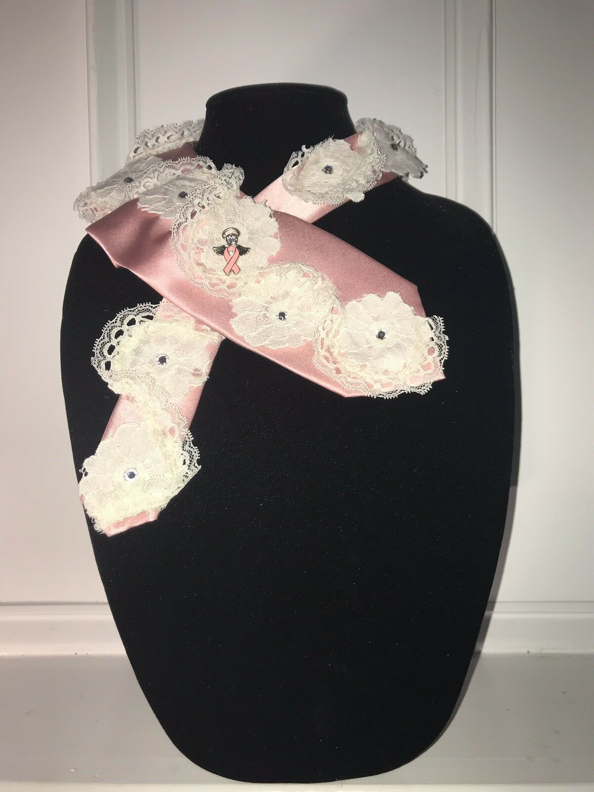 Women's Accessories Tie Necklace, Necklace, Collar, Breast Cancer