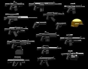 BrickArms Modern Combat Assault Weapons//Accessories Pack for Minifigures NEW