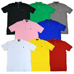 fe5acdd973f0 Polo Ralph Lauren Mens Classic Fit Interlock Polo Shirt S M L Xl New ...