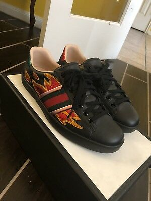 gucci ace flames black off 61% - www