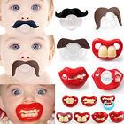 Teeth Mustache Baby Boy Girl Infant Pacifier Orthodontic Dummy Beard Nipples New