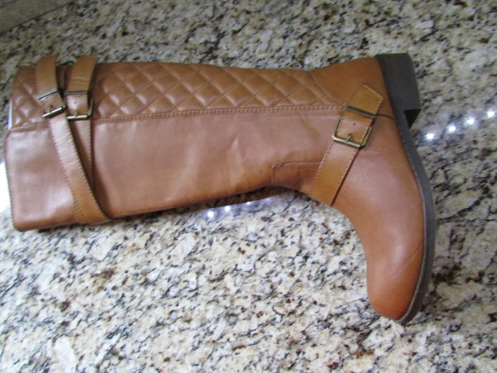 Nouveau Steve Madden Madden Girl Calinda Cognac Haute bottes d'équitation pour femme 10 Tall