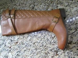 605b5f9e810 NEW STEVE MADDEN MADDEN GIRL CALINDA COGNAC HIGH RIDING BOOTS WOMENS ...