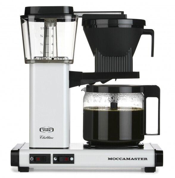 Moccamaster Kaffeefiltermaschine KBG 741 AO metallic white / weiß