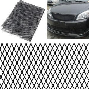 100cm-x-33cm-Aluminium-Racing-Grille-Mesh-Vent-Car-Tuning-Grill-Argent-Noir-FR