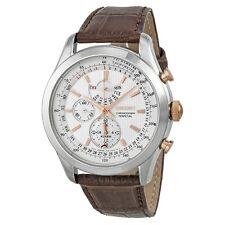 Seiko SPC129 Chronograph Alarm Perpetual Calendar Brown Calf Leather Men's Watch