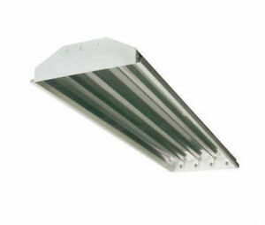 New High Low Bay T8 4 Lamp Fluorescent Lighting Fixtures For Shops ...