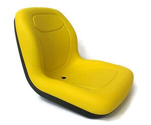 New Yellow HIGH BACK SEAT for John Deere LVA10029 AM129969 AM129970 AM133476