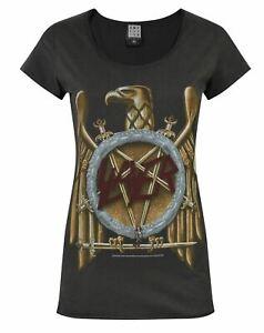 Amplified-Slayer-Eagle-Logo-Women-039-s-T-Shirt
