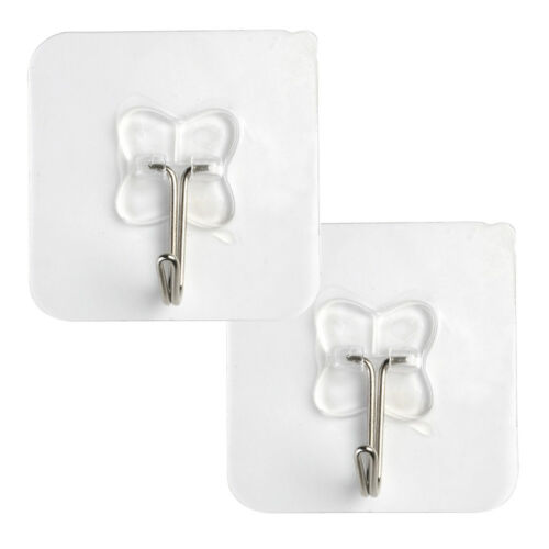 2pcs Strong Kitchen Bathroom Suction Cup Suckers Sticky Hooks Wall Hanger