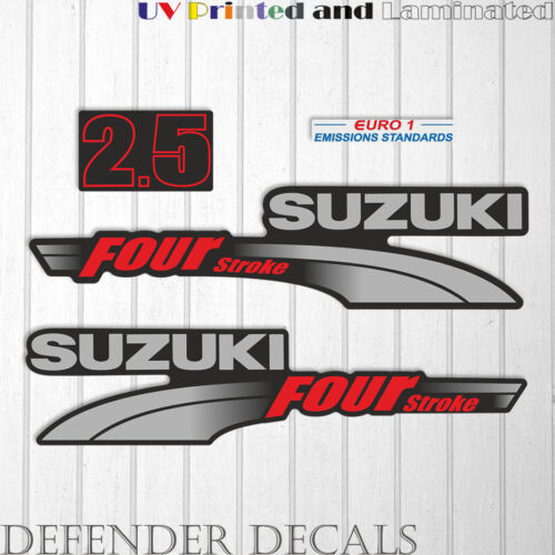 Suzuki 2,5 hp Four Stroke outboard engine decal sticker set kit reproduction
