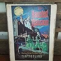 """Details about  /11/"""" HAUNTED MANSION Disney fantasyland sign pop ART Wood Vtg style Sign"""