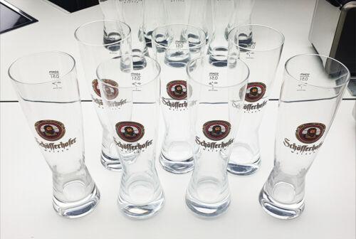 7x SCHÖFFERHOFER WEIZEN SAHM Biergläser Glas Peter Schöffer von Gernsheim 0,5L