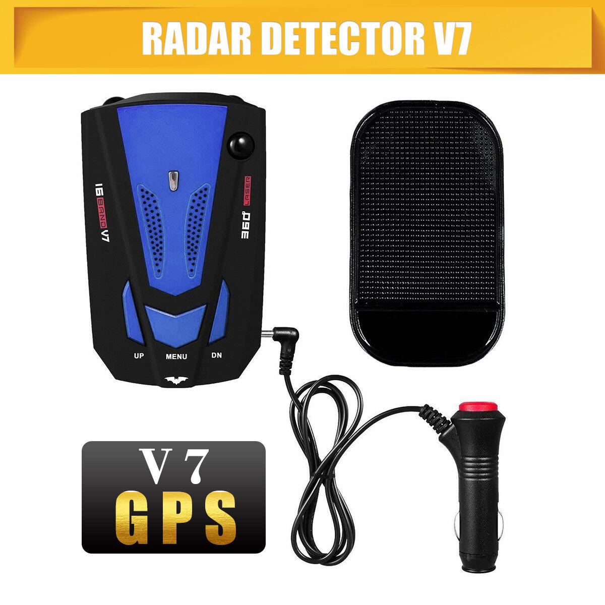 Car 16 Band V7 360 Degree GPS Speed Police Safe Radar Detector Voice Alert Laser