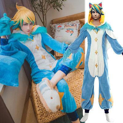 LOL League of Legends Star Guardian EZ Ezreal Jumpsuit Pajamas Cos Costume Lot