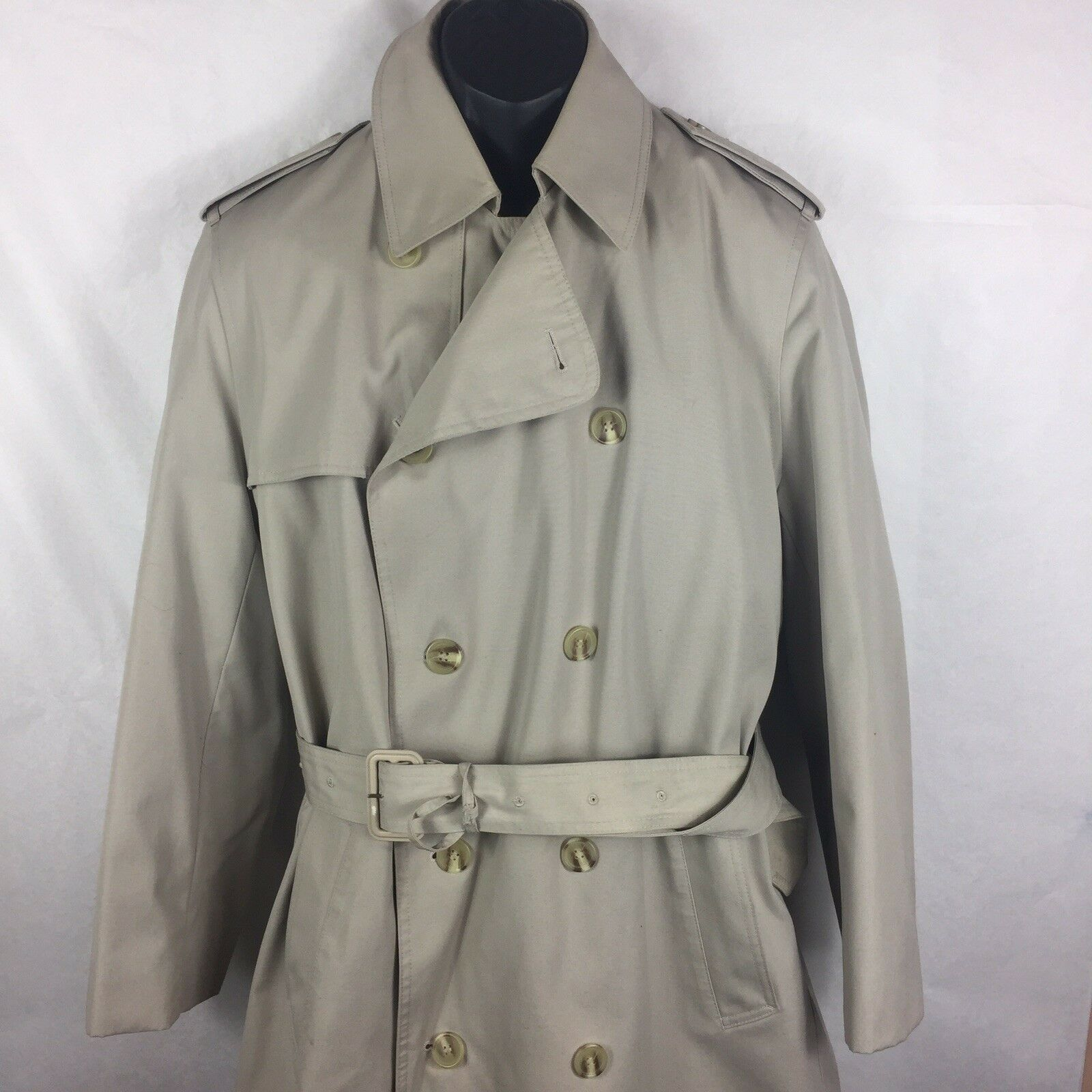 Misty Harbor 40 Mens Coat Beige Raincoat Zip Lining Trench