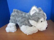 "Caltoy~Gray & White Large 18"" Plush Swirl Siberian Husky Puppy Dog / Wolf~Soft"