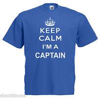 Captain Adults Mens T Shirt 12 Colours Size S - 3XL
