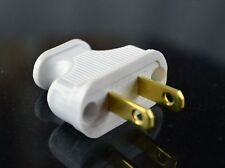 Vintage WHITE Antique Style Electrical Plug - for Cloth Covered Wire Lamp Cord