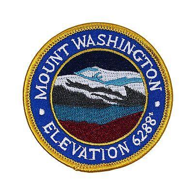 """New Hampshire """"Mount Washington"""" Patch White Mountains Hiking Iron-On Applique"""